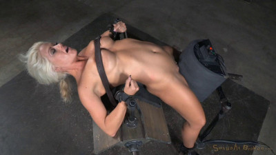 Big breasted sybian slut with brutal drooling deepthroat