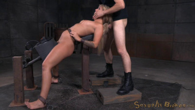 Sexy blonde Madelyn Monroe bound sybain utterly destroyed dick! Brutal deepthroat! (2015)