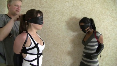 Drea Morgan And Elizabeth Andrews Leather Strap Hogtied Duo (2015)
