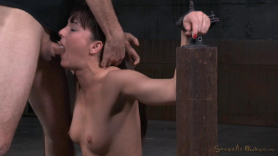 Fresh Faced Bianca Breeze Bound In Metal Shackles