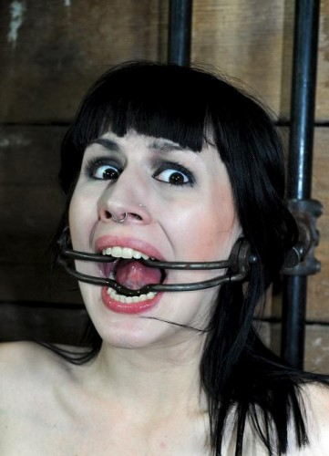 Beautiful slave loves metal bridle