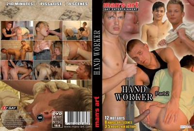 Handworker Part 2 - deep throat, horny guys, cum eating, media video