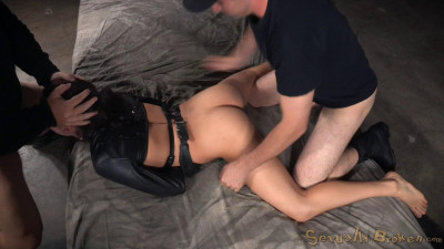 Nikki Knightly bound in straightjacket and ragdoll fucked