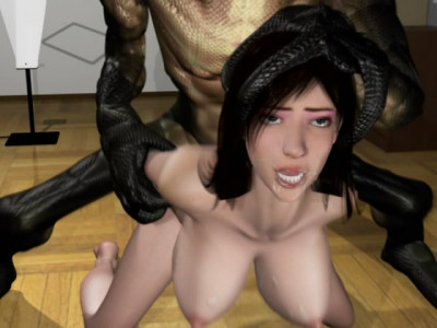 Horrifying snake man fucked beautiful wife