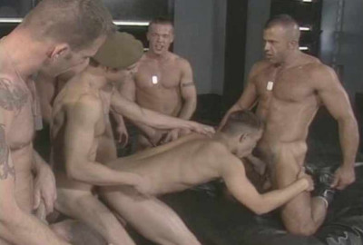 Hottest muscle men in gangbang compilation