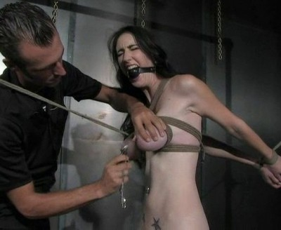 Slaps Cunt and Clamps Nipples