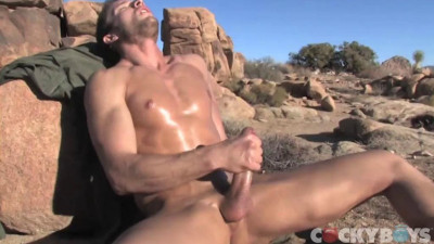 Kevin Crows Blows his load in the mountains