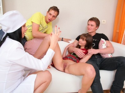 Nina is being fucked hard and sucks another cock on this wild day and loves two cocks on her day.