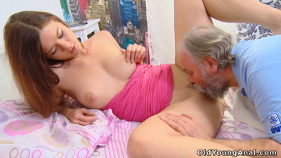 Young russian girl anally fucked by an old doctor who came to treat her headache