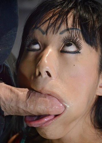 Big breasted Asian Gaia totally destroyed by dick, fucked silly, epic deepthroat
