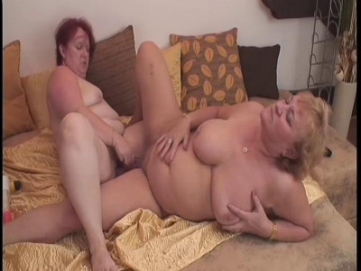 GrannyLesbianClub-Grey haired granny lesbians get off with sex toys