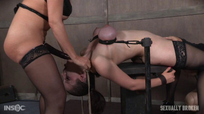 Iona Grace (Iona Grace's Big Natural Breasts Bound As She Is Throatboarded