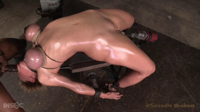 Darling drooling deepthroating cock restrained on fucking machine pounded anally! (2015)