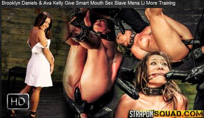Straponsquad - Jun 10, 2016 - Brooklyn Daniels & Ava Kelly Give Smart Mouth Sex Slave Mena Li