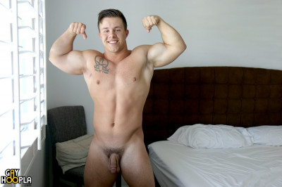 GayHoopla Travis Woods - Solo Jerking
