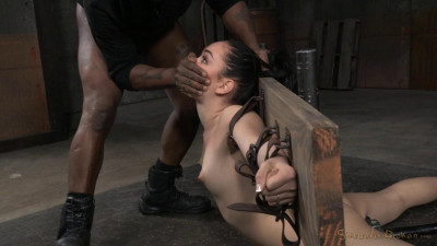 Aria Alexander Bound In Brutal Back Arch And Throatboarded With Punishing Deepthroat On Bbc!