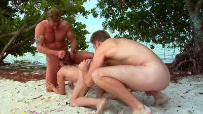 Nasty desire of group sex in island