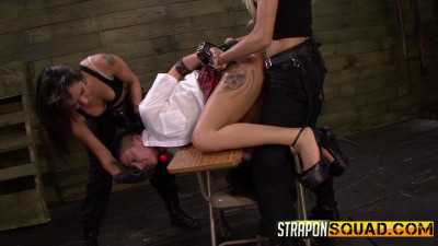 Naughty girl Alby Rydes is punished by Mila Blaze & Isa Mendez