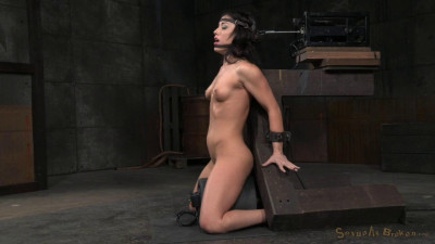 Jennifer White Shackled On Sybian And Bound In The Blowjob Machine