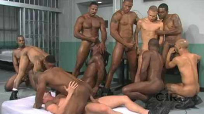 Brutal Black Gangbang At Prison