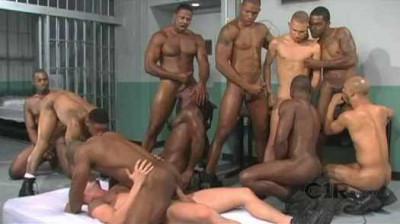 Brutal Black Gangbang At Prison