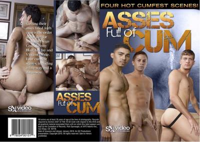 Asses Full of Cum - interracial, three, large, vid