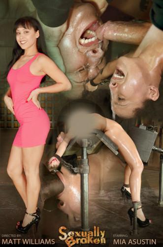 SexuallyBroken - Jan 28, 2015 - Exotic newbie Mia Austin - tightly bound in back arch