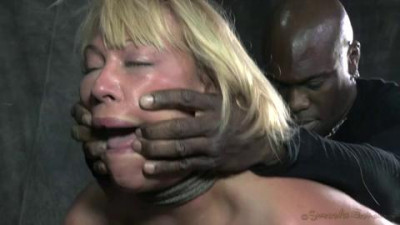 Booming Mellanie Monroe made to worship BBC