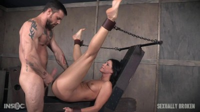 Super MILF India Summer get's broken with brutal throat fucking and pussy pounding!