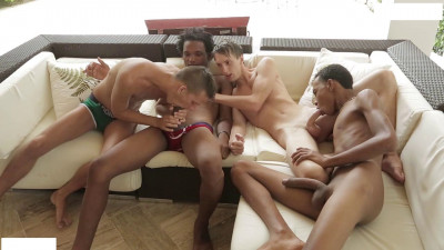 It_s Out Of The Pool & Into A Couple Of Horny White Asses For These Two Mammoth Black