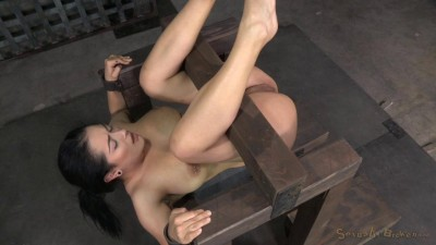 Katrina Jade Fucked Hard By Two Dicks While In Strict Device Bondage, Creampied (2014)