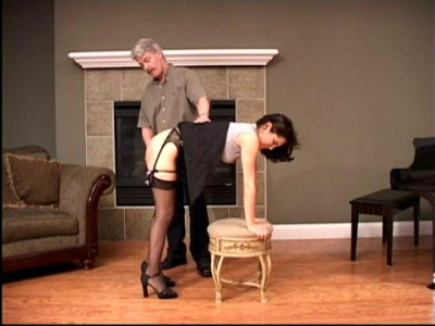 Filled with hard, sustained over the knee spanking