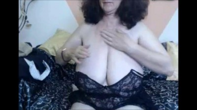 Granny with giant natural tits