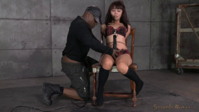 Asian Marica Hase Gets Bound, Spanked And Completely Destroyed By Epic Deepthoat On BBC