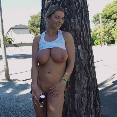 Katerina - Busty Katrina Goes For A Jog FullHD 1080p