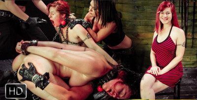 Pain Sub Slut Alessa snow Endures Lesbian domination with Kimber Woods & Isa Mendez