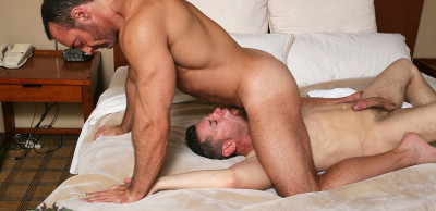 Brad Kalvo and  Ari Sylvio in The Massage