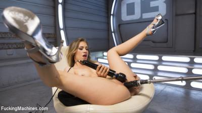 Fresh Meat - Long Legged Blonde Gets Ravaged by Fucking Machines