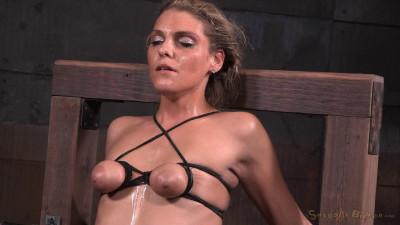 Stevie Smith - Shackled skinny sybian slut throatboarded by BBC (2015)