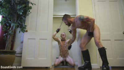 Perverse Gardener Brutally Torments Southern Straight Boy