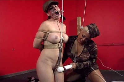 Private Jamie Strung Up By A Pussy Hook In Tight Bondage