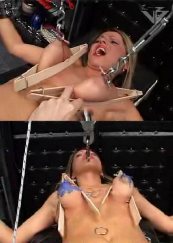 Blonde in hard BDSM