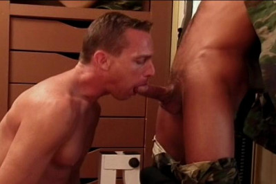 Military Man Scott Loves To Taste Dribbling Dick In His Mouth