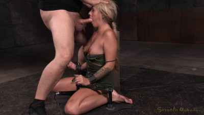 Sexy Blonde Restrained On Vibrator And Facefucked