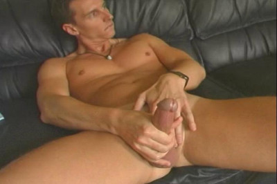 Jeff Probes His Rear End With A Toy While Stroking His Shaft