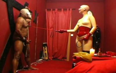 Ebony Sexy Slave Bondage