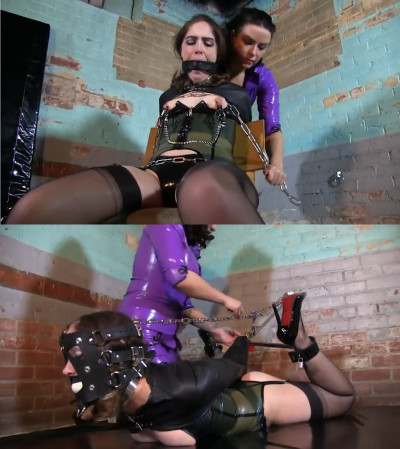 Super bondage, suspension, torture and hogtie for young bitch