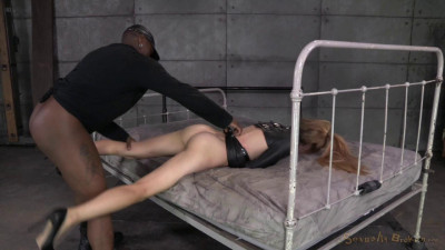 Emma Haize is straightjacketed and ragdoll fucked hard by 2 big cocks