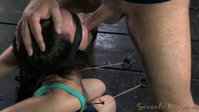 Gabriella Paltrova Blindfolded Shackled, Brutal Throat Training