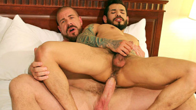 BarebackThatHole Rocco Steele and Draven Torres - gay swart boys unshackled.